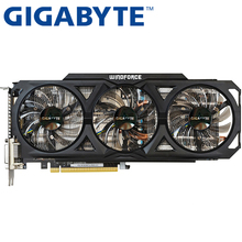Buy GIGABYTE Graphics Card Original GTX 760 2GB 256Bit GDDR5 Video Cards nVIDIA VGA Cards Geforce GTX760 Hdmi Dvi game Used for $166.66 in AliExpress store