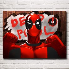 Deadpool Wade Wilson USA Superheroes Comic Movie Art Silk Poster Print Home Decor Painting 12x16 18X24 Inches Free Shipping(China)