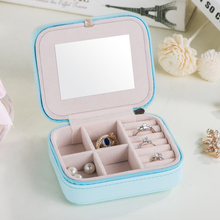 Portable Mini Storage Boxes Container For Necklace Pearls Jewelry Storage Box Wedding Gift Earrings Ring Organizer, 11*9*5.5cm(China)
