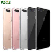 PZOZ Luxury Brand TPU Silicon Slim Clear 360 Transparent Silicone Case Cover For Apple iPhone 7 Plus 7Plus iPhone7 i Phone iPone