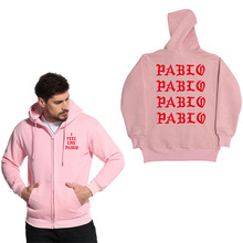 SHISHANGDEYEZI Brand Zipper Hoodie jacket Men's sweatshirt Casual letter i feel like pablo Hoodies sweatshirts men(China)