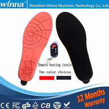 New arrival heating insoles with wireless remote control Type Battery Powered women men shoes ski Insoles RED Size EUR 35-46#(China)
