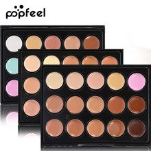 Popfeel Brand 15 Colors Base concealer Makeup Foundation Face Contour Palette Bronzer Corrector Powder Primer MakeUp Contouring(China)