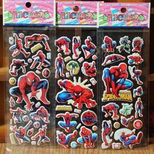 reward stickers 10PCS / lot Mixed cartoon bubble wall stickers Spiderman 3D toys / children's cartoon bubble stickers decoration