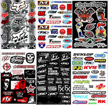 Fashion New Door Diy One Sheet Waterproof Motorcycle Skull Sticker Motorbike Car Body Styling Decals Bike Luggage Bag Stickers