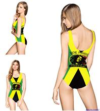 Sexy Women bikini SKINNY Digital Print Brazilian One Piece Swimwear Pinstriped Women Bathing Suit Yellow Swimsuit Free Shipping