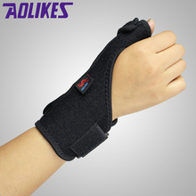 1pcs Elastic Thumb Wristband Spring Steel Wrap Hand Palm Wrist Brace Right or Left Hand   Support Corrector Bandage