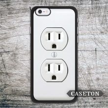 Electric Outlet Funny Case For iPod 5 and For iPhone 7 6 6s Plus 5 5s SE 5c 4 4s Brand New High Quality Cover