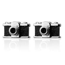 C-MAN Luxury shirt Black camera cufflink for mens Brand cuff buttons cuff links High Quality abotoaduras Jewelry(China)
