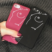 Sketch Woman Sexy Chest for Coque iPhone 7 Case Fashion Luxury 6 6S 7 Plus Hard PC Matte Phone Back Cover Capa