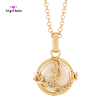 Angel Bola Scorpio Perfume Aromatherapy Necklace Pendant For Women Sweater Chain Music Pendant Cage Jewelry L140
