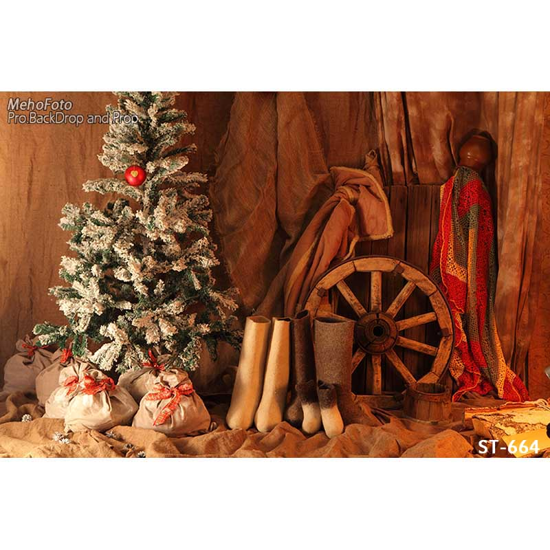 Horizontal vinyl print Xmas decoration room photography backdrops for photo studio portrait backgrounds ST-664<br>