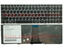High quality laptop keyboard for Lenovo Ideapad Z50-70 US layout silver Frame without Backlit 100% Fully Tested&Working great(China)