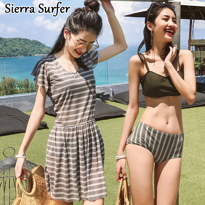 Sexy Swimsuit Women Bikinis May Beach Cheap Bathing Suit 2018 Skirt Suits Female Dress With Three Piece Underwire Padding Bubble<br>