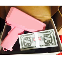 Cool Cash Cannon Money Gun Make It Rain Money toy Gun Red Christmas Gift Party Toys game Fashion Toy