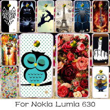 Silicone Plastic Phone Case For Nokia Lumia 630 Bag Cover RM-978 N630 3G RM-976 RM-977 RM-974 RM-975 638 636 DIY Painted Case