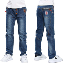 Children's Jeans 2017 Spring Autumn Boys Jeans Kids Children's Clothing Casual Elastic Waist Straight Baby Boys Trousers Hot(China)
