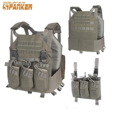 Element Airsoft Tactical Modular Vest with AK 47 Rifle Triple MG Pouch Military Hunting Vest Outdoor Equipment EV117