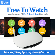 Smart R2 Android IPTV Box UK DE Italian French 1700 Plus Europe IP TV Channels Wifi Load 1G/8G IPTV Media Player Set Top Box