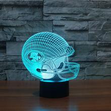 NFL Team Logo San Francisco 49ers Football Cap 7 Colors Changing Atmosphere Gradient Visual Nightlight Illusion Sports Fan Lamp