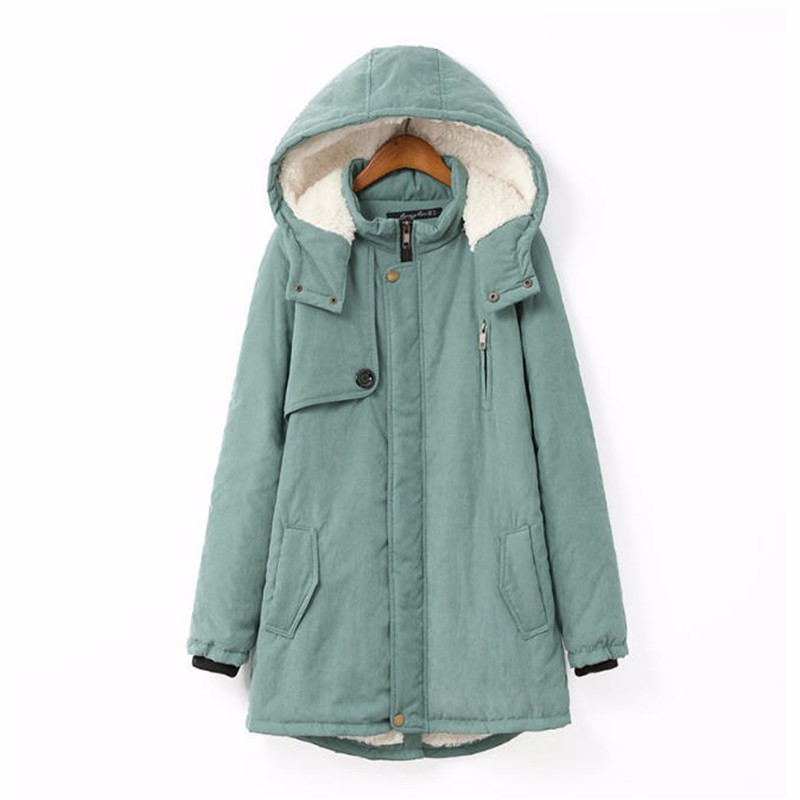 2017 New Women Winter Jackets oversize Cotton Padded Female Version Long Section Cashmere Coat Winter Jackets plus size XF022Одежда и ак�е��уары<br><br><br>Aliexpress