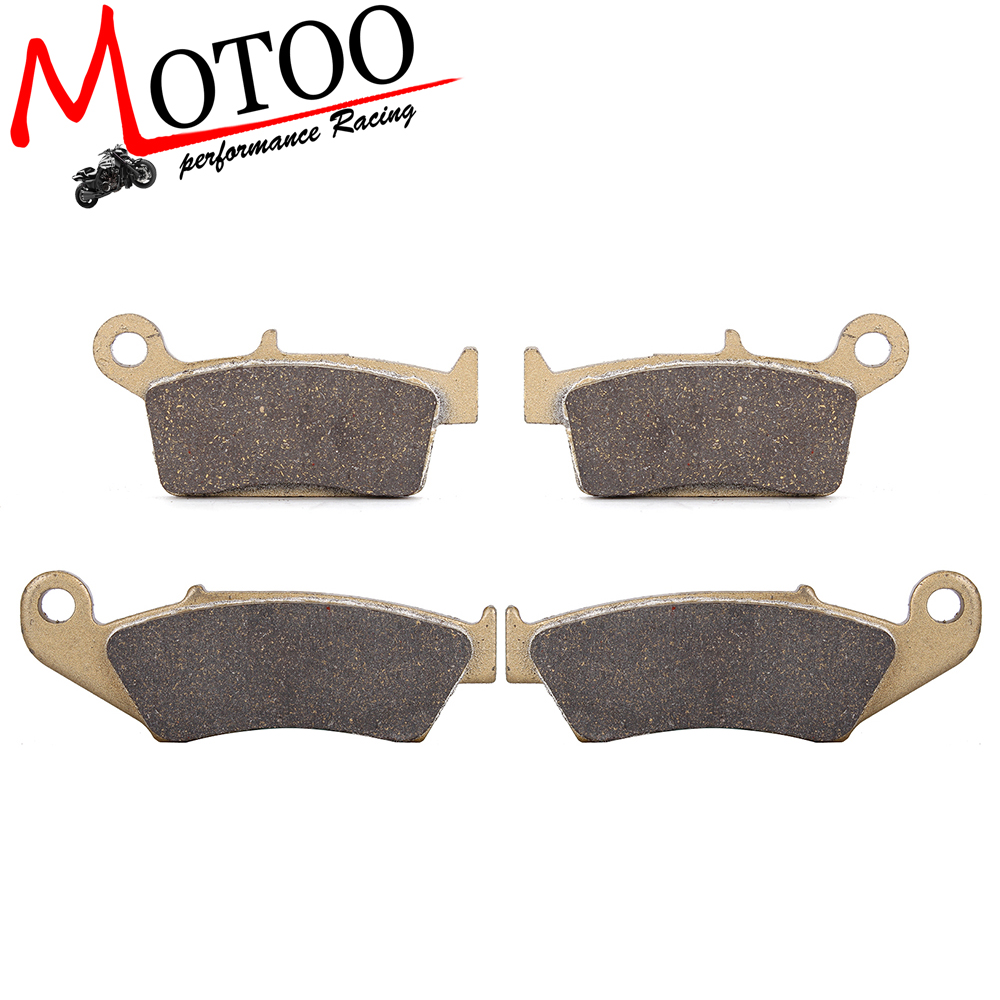 Motoo -Motorcycle Front and Rear Brake Pads for Suzuki DRZ400 2000-009 RM125 RM250 1996-2006 RMX250 1999-2000<br>