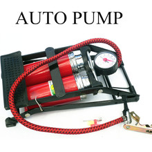 Air Pump car inflator Tires TWO auto  pump  air compressor Car-styling Bicycle Bike Motorbike Ball Inflator free shipping