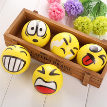 Smiley Stress Ball Smiley Squeeze Ball Anti Stress Autism Squeeze Toys Random Hand Wrist Exercise