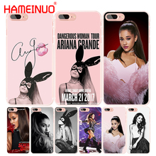 HAMEINUO Ag Ariana Grande Cat cell phone Cover case for iphone 4 4s 5 5s SE 5c 6 6s 7 8 X plus(China)