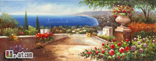 Canvas Prints the Mediterranean Sea Giclee impressionistic art canvas prints for living hall 13-Gfj- (17) 120x50cm