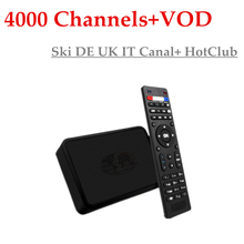 GOTiT MAG254+Germany IPTV+USB WiFi 4000+Channels French Adult HotClub VOD Ski DE UK IT Canal+Linux OS STiH207 MAG 254 IPTV Box
