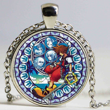 Wholesale Kingdom Hearts Necklace Kingdom Hearts Jewelry Art Pendant For Necklace Sliver