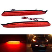 For Mazda 6 Mazda6 2003-08 Red White Smoked Lens LED Rear Bumper Reflector Tail Brake Stop Light Atenza