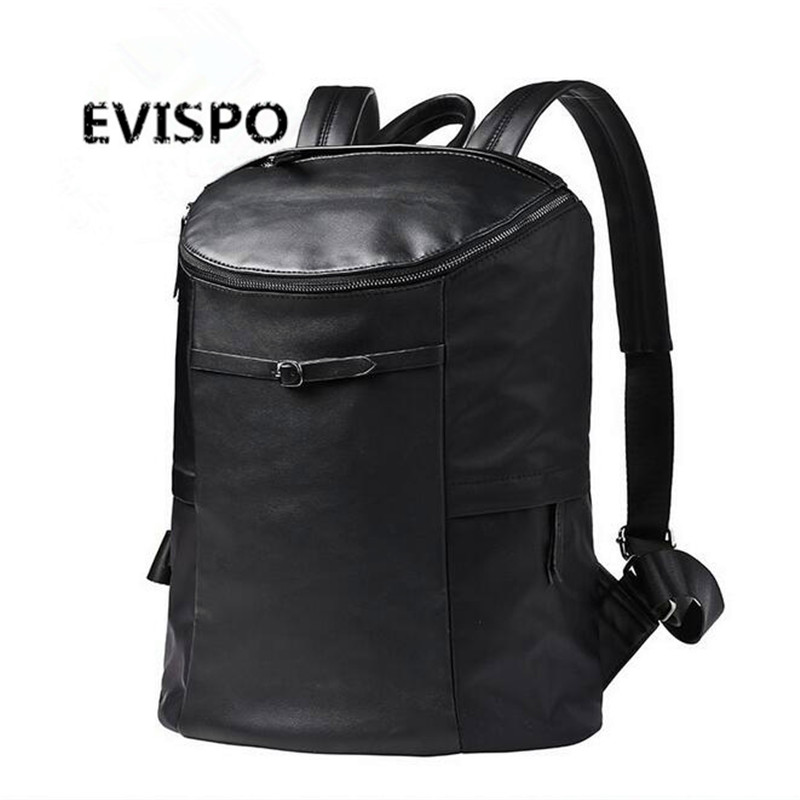 2016 Famous Designer Men Stylish Backpacks PU Leather School Bags For Teenagers Large Capacity Vintage Travel Bags Bolsa Mochila(China (Mainland))