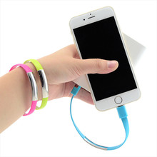Micro USB 2.0 Data Sync Charger Cable Bracelet Wristband For Samsung For Other Android Phones(China)