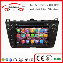8 inch 1024*600 Quad Core Android 5.1 Car DVD Multimedia Player For MAZDA6 Ruiyi ultra Navigation GPS Radio bose audio system
