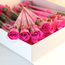 New 5pcs Bath Body Artificial Flower Soap Rose Wedding Party Decor Valentines Gift(China)