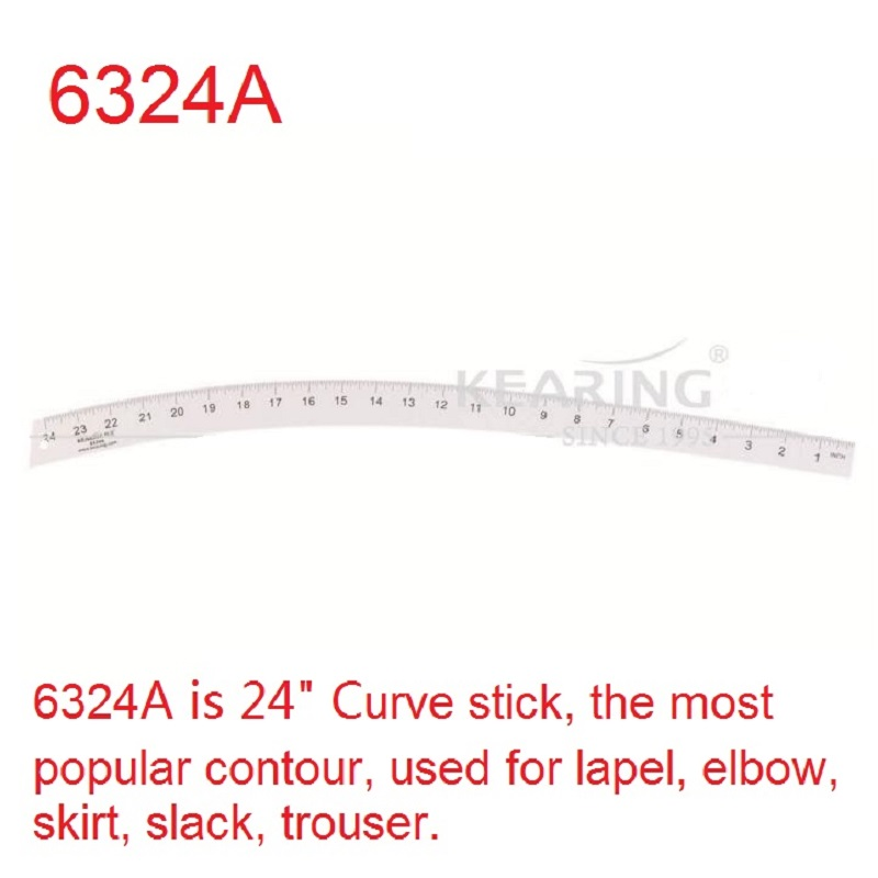 KEARING 24 Inch Curve Stick Metal Contour Ruler, Great tool for Altering Sewing Pattern Very helpful for Pattern Drafting #6324A<br>