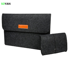 New Felt laptop bag Fashion Soft Sleeve Bag Case Laptop Anti-scratch Cover For Apple Macbook Air Pro Retina 11 12 13 15 Inch(China)