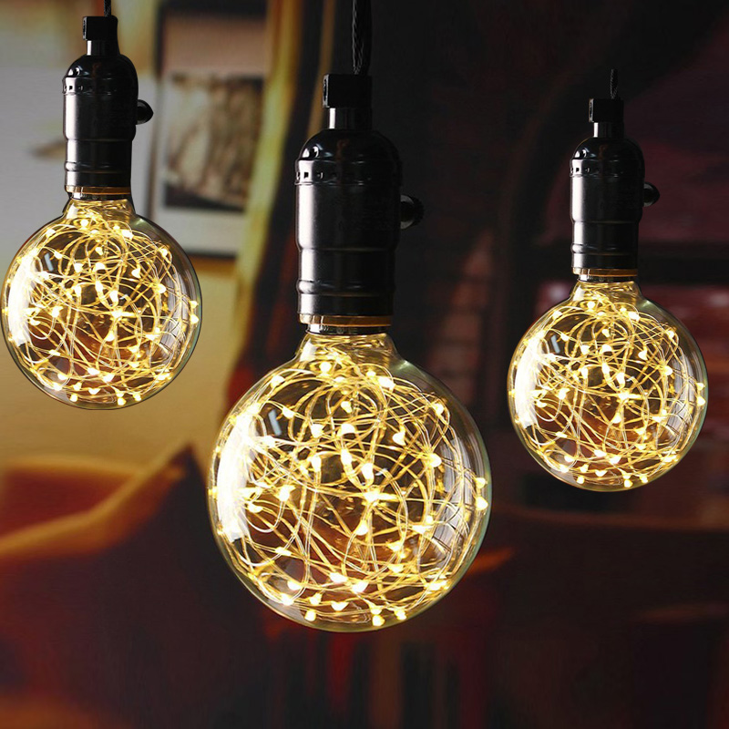Holiday lights LED Bulb E27 decorative lamparas for home living/dining Room cafe christmas decoration holiday light bulb(China)
