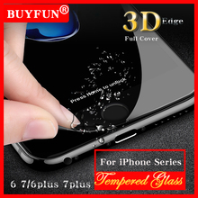 9 H Tempered Glass For iphone 7 6 Plus glass Screen Protector Protective Film front case 3 D Full Cover + Clean kit For Apple 7