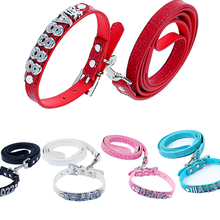 Global Baby Free Rhinestone Name and Charms Pet Dog Personalized Customized Collar Products(China)
