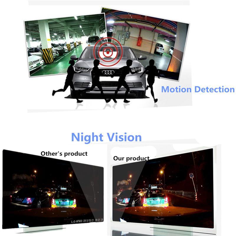 2.4 Inch 720P HD TFT Car DVR Vehicle Camera Lens Video Recorder Dash Cam G-sensor Night Vision Parking Video Recorder 8