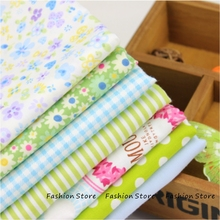 7pcs Cotton Fabric For Sewing Quilting Patchwork Textile Blue and Green flower Tilda Doll Body Cloth 40cm*50cm Manual Cloth