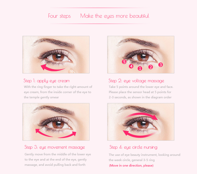 Wholesale Eye Message Stick Eyes Wrinkle Removing Pen Beauty Eye Massager Instrument Electric Vibrator Health Beauty for Women 17
