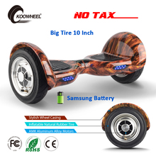 Koowheel 2017 Smart Hoverboard 10 Inch Big Inflatable Tires 2 Motors Self Balancing Electric Scooter Samsung Battery Hover Board(China)