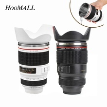 Hoomall Spot 400ML Camera Lens Mug Stainless Steel Cup for Coffee Tea with Easy Clean Lid Travel Thermos Vacuum Flasks Thermocup(China)