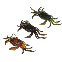 3PCS 3D PVC Crabs Lures 10cm 30g/Piece Orange/Green/Marron Avaiable(China)