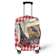 ONE2 Paris style luggages cover elastic custom polyester spandex transparent hot sell luggage wheel cover for boys girls student