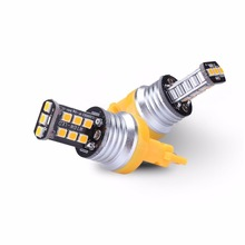 2Ppcs 800 Lumens Extremely Bright 2835 Chipsets 3056 3156 3057 3157 4157 LED Bulbs for Turn Signal Blinker Light, Amber Yellow